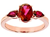 Red Peony™ Topaz 10k Rose Gold Ring 1.84ctw