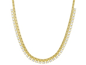 White Cubic Zirconia 18K Yellow Gold Over Sterling Silver Necklace 8.00ctw