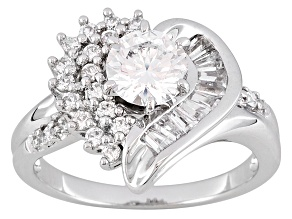 Bella Luce 2.31 Ctw White Cz .925 Sterling Silver Modern Heart Ring