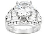 White Cubic Zirconia Rhodium Over Sterling Silver Ring 10.67ctw