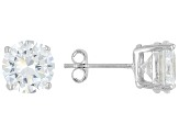 White Cubic Zirconia Rhodium Over Sterling Silver Earrings Set Of 5