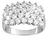 Bella Luce ® 4.95ctw Rhodium Over Sterling Silver Ring