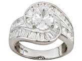 Bella Luce ® 7.23ctw Rhodium Over Sterling Silver Ring