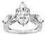 White Cubic Zirconia Rhodium Over Sterling Silver Ring 5.33ctw