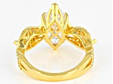 White Cubic Zirconia 18K Yellow Gold Over Sterling Silver Ring 5.33ctw
