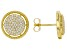 White Cubic Zirconia 18k Yellow Gold Over Sterling Silver Earrings 1.24ctw