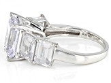 White Cubic Zirconia Platinum Over Sterling Silver Ring 14.75ctw