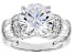 White Cubic Zirconia Platinum Over Sterling Silver Ring 8.55ctw