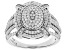 White Cubic Zirconia Rhodium Over Sterling Silver Ring 1.53ctw