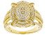 White Cubic Zirconia 18K Yellow Gold Over Sterling Silver Ring 1.53ctw