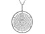 White Cubic Zirconia Rhodium Over Sterling Silver Pendant With Chain 2.08ctw
