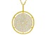 White Cubic Zirconia 18K Yellow Gold Over Sterling Silver Pendant With Chain 2.08ctw