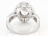 Cubic Zirconia Rhodium Over Sterling Silver Ring 3.76 DEW