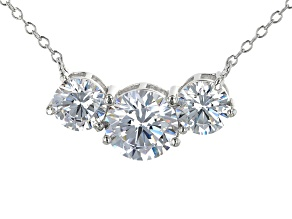 White Cubic Zirconia Rhodium Over Sterling Silver Necklace 3.62ctw