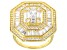 White Cubic Zirconia 18K Yellow Gold Over Sterling Silver Ring 2.99ctw