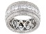 White Cubic Zirconia Rhodium Over Sterling Silver Eternity Band Ring 6.84ctw