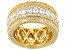 White Cubic Zirconia 18K Yellow Gold Over Sterling Silver Eternity Band 6.84ctw