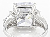 White Cubic Zirconia Rhodium Over Sterling Silver Ring 11.47ctw