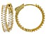 White Cubic Zirconia 18K Yellow Gold Over Sterling Silver Hoop Earrings 5.28ctw