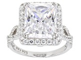Cubic Zirconia Rhodium Over Silver Ring 13.31ctw