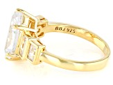 White Cubic Zirconia 18k Yellow Gold Over Sterling Silver Ring 5.75ctw