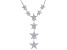 White Cubic Zirconia Rhodium Over Sterling Silver Star Necklace 1.24ctw