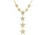 White Cubic Zirconia 18k Yellow Gold Over Sterling Silver Star Necklace 1.24ctw
