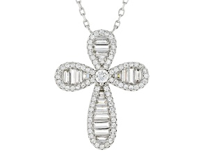 White Cubic Zirconia Rhodium Over Sterling Silver Necklace 2.02ctw