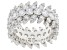 White Cubic Zirconia Rhodium Over Sterling Silver Ring 10.18ctw