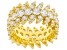 White Cubic Zirconia 18k Yellow Gold Over Sterling Silver Ring 10.18ctw