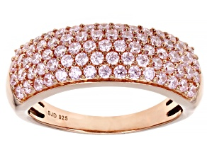 Pink Cubic Zirconia 18k Rose Gold Over Sterling Silver Ring 2.10ctw