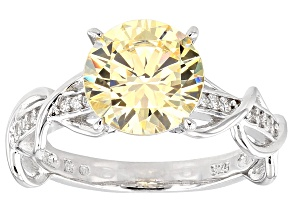 Bella Luce ® 4.63ctw Rhodium Plated Sterling Silver Ring