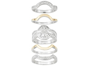 Bella Luce ® 3.08ctw Sterling Silver & 18k Yellow Gold Over Sterling Silver Ring With Wraps