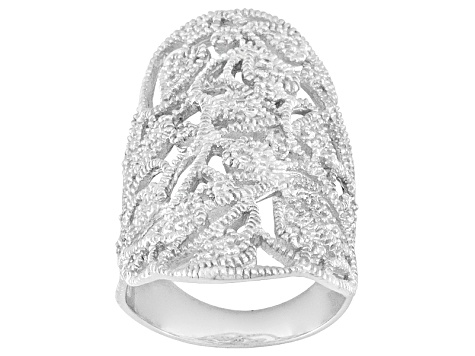 White Cubic Zirconia Sterling Silver Ring 1.07ctw