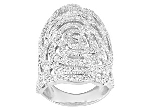 White Cubic Zirconia Sterling Silver Ring 2.39ctw