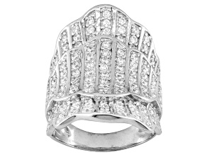 Rhodium Plated Sterling Silver Cubic Zirconia Ring 2.75ctw