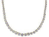 "Bella Luce ® 76.86ctw Round 18k Yellow Gold Over Sterling Silver 18"" Graduated Necklace"