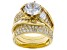 Bella Luce 7.31ctw 18k yg over sterling silver Ring With Bands (5.93ctw DEW)