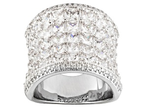 Cubic Zirconia Silver Ring 8.35ctw