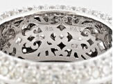 Bella Luce ® 11.99ctw Round Rhodium Over Sterling Silver Ring