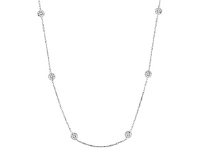 Cubic Zirconia Silver Necklace 10.17ctw