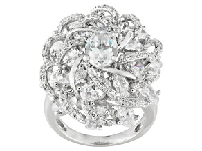 Cubic Zirconia Silver Ring 10.65ctw