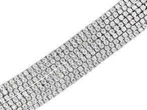 Cubic Zirconia Sterling Silver Bracelet 31.80ctw