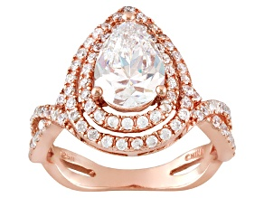 Bella Luce ® Diamond Simulant 4.90ctw 18k Rose Gold Over Sterling Silver Ring