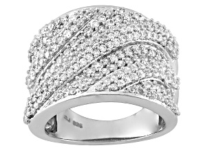 Cubic Zirconia Silver Ring 3.58ctw