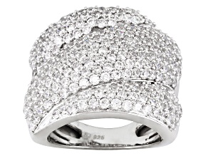 Cubic Zirconia Sterling Silver Ring 6.90ctw