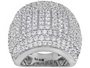 Cubic Zirconia Silver Ring 5.42ctw