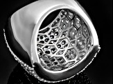 Cubic Zirconia Silver Ring 5.42ctw