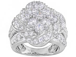 Cubic Zirconia Silver Ring 4.26ctw