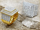 Cubic Zironia 18k Yellow Gold Over Silver Ring 6.00ctw